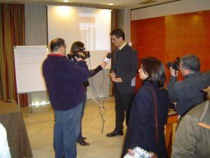 Entrevista durante la presentación del campeonato de memoria rápida de San Javier