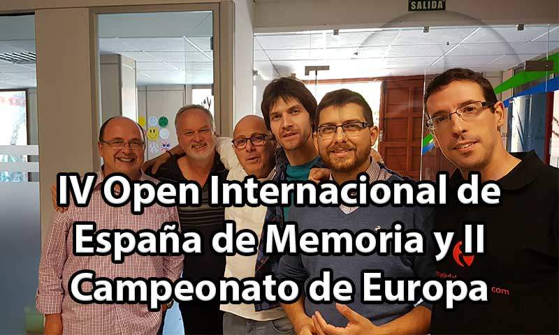 IV Open Internacional de España de Memoria y II Campeonato de Europa
