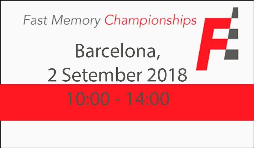 Campeonato de Memoria Rápida Fast Memory Championships 2018